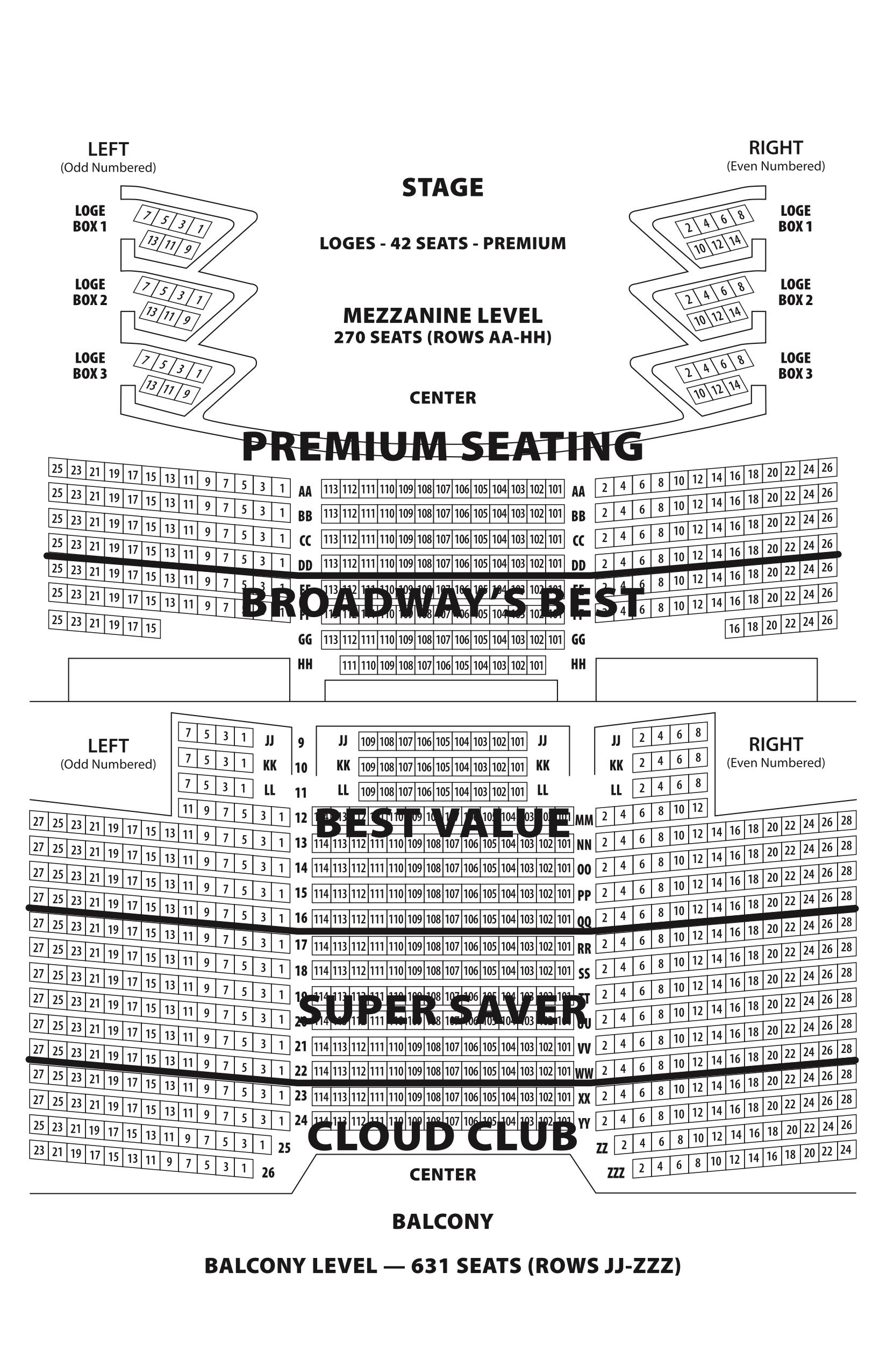 Seating Charts Barbara B Mann Performing Arts Hall