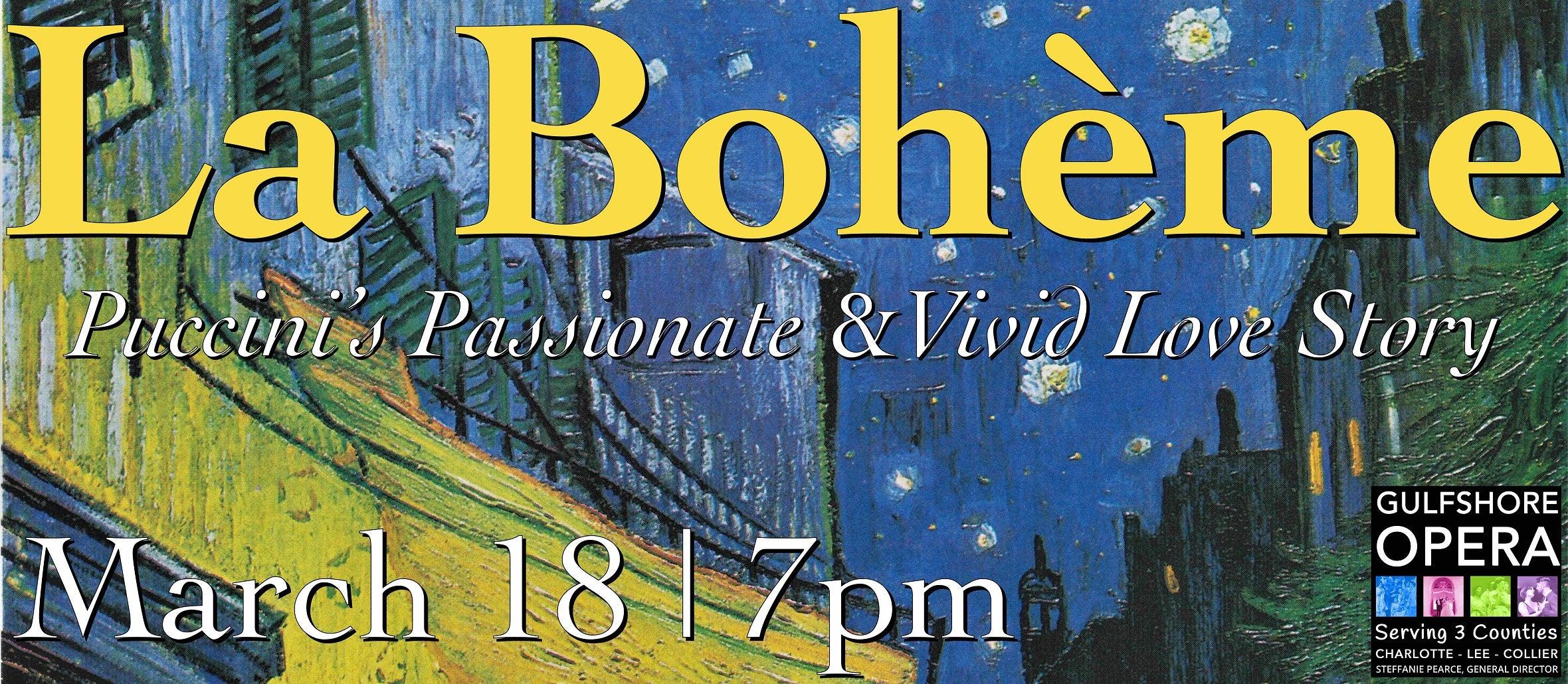 Gulfshore Opera: La Bohème